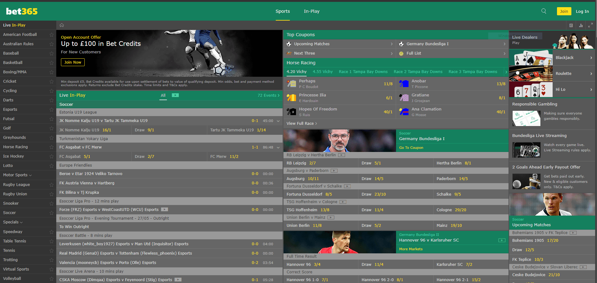 sports betting with Bet365