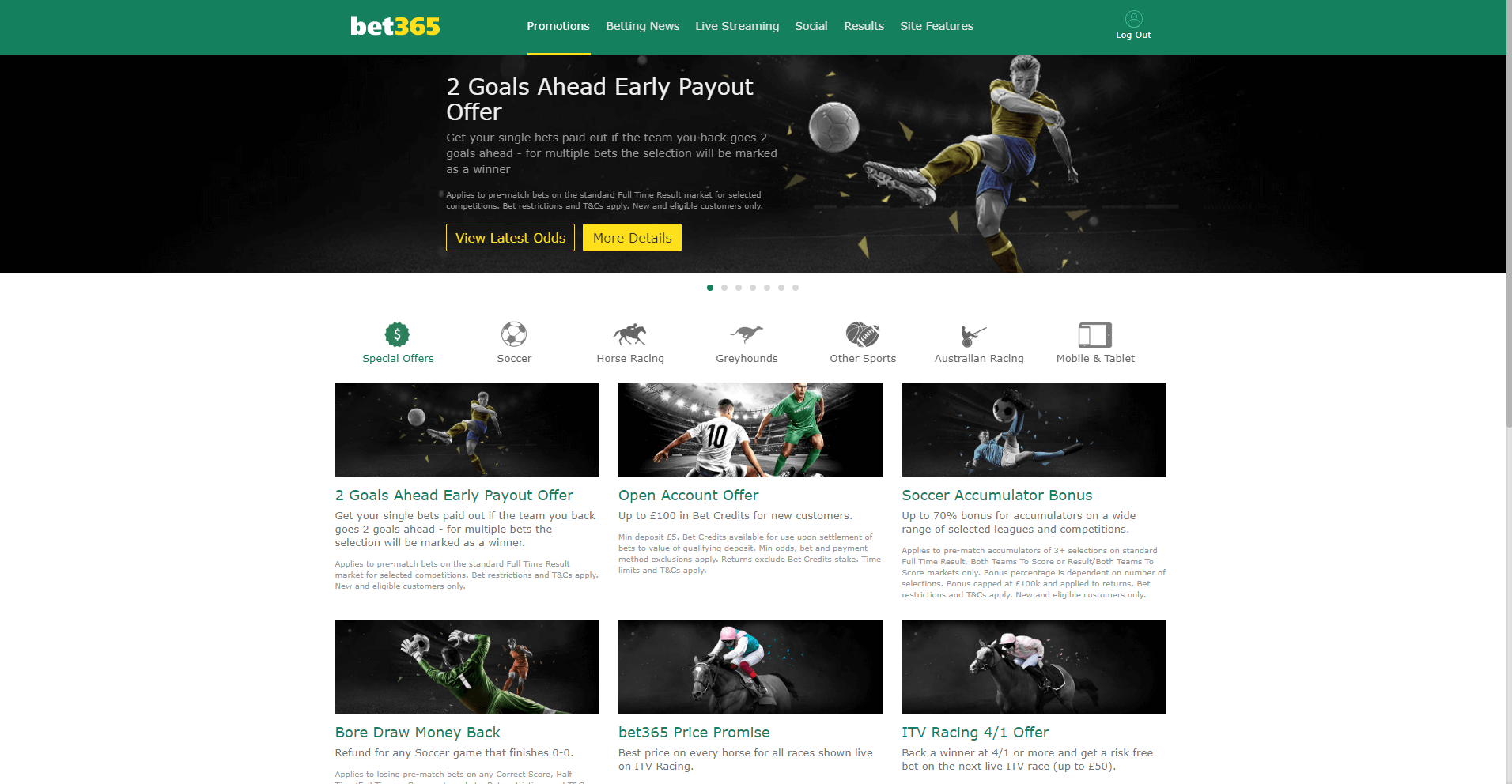 incredible promotions on the bet365 website