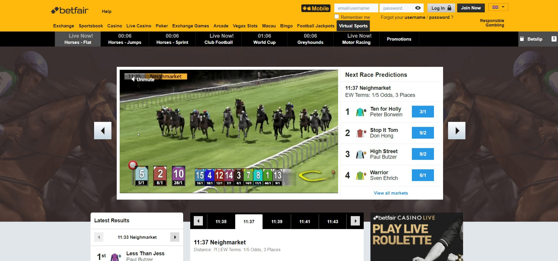 discover virtual sports at betfair