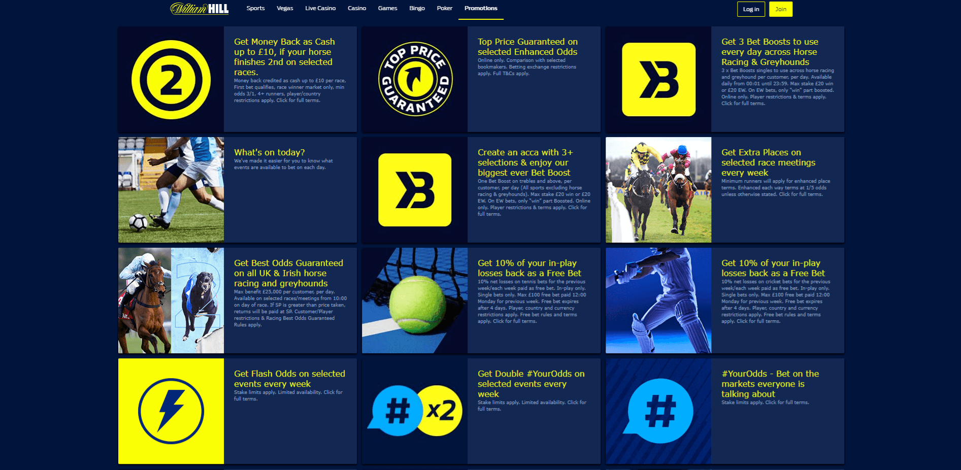 William Hill has the best promotions